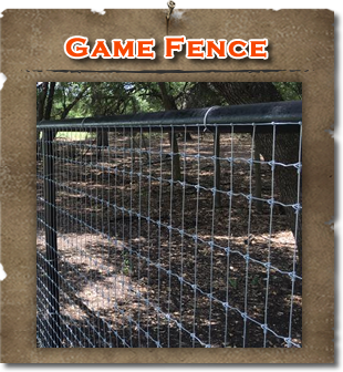 Texas High Exotic Deer Game Fence Builders