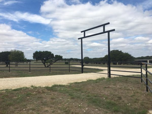 Aim High Fence Builders - Texas Ranch Metal Pipe Entry & Gate