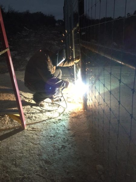 metal pipe fence welding texas