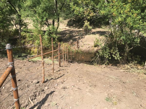 Aim High Fence Builders - Texas Ranch Water Gap Construction