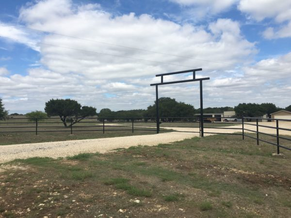 Aim High Fence Builders - Texas Ranch Entrance Metal Pipe & Gate